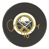 Christian Ehrhoff Autographed Buffalo Sabres Hockey Puck