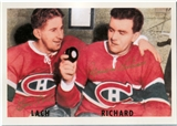 Maurice Richard & Elmer Lach Autographed Montreal Canadiens 8x11 Print (DACW COA)