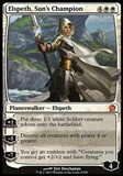 Magic the Gathering Theros Single Elspeth, Sun's Champion FOIL - SLIGHT PLAY (SP)
