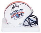 John Elway Autographed Hall of Fame Enshirement Mini Football Helmet (Mounted Memories)