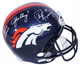 John Elway and Peyton Manning Autographed Denver Broncos Full Size Replica Helmet