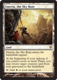 Magic the Gathering Zendikar Single Emeria, the Sky Ruin Foil