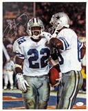 Emmitt Smith Autographed Dallas Cowboys 11x14 Photograph (JSA)