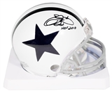Emmitt Smith Autographed Dallas Cowboys Throwback Mini Helmet w/HOF 2010