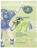 Emmitt Smith Autographed Florida Gators College Football HOF Enshrinement Program (JSA)