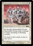 Magic the Gathering Urza's Legacy Single Expendable Troops Foil