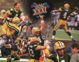 Brett Favre Autographed Green Bay Packers 8x10 Super Bowl XXXI Collage (Favre Authentic)