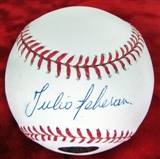 Julio Teheran Autographed Atlanta Braves Official Major League Baseball (Onyx COA)