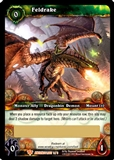 World of Warcraft War of the Ancients Single Feldrake - Unscratched Loot Card!