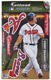 "Fathead Chipper Jones Atlanta Braves Teammate Player  9 1/2"" x 16 1/2"""