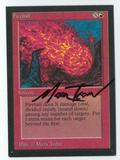 Magic the Gathering Beta Artist Proof Fireball - SIGNED BY MARK TEDIN