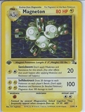 Pokemon Fossil 1st Edition Single Magneton 11/62 - SLIGHT PLAY (SP)