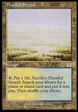 Magic the Gathering Onslaught Single Flooded Strand - MODERATE PLAY (MP)