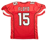 Michael Floyd Autographed Arizona Cardinals Football Jersey (JSA)