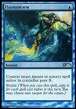 Magic the Gathering Judge Foil Promo Single Flusterstorm SLIGHT PLAY (SP)