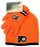 Philadelphia Flyers Reebok Orange Cuffless Knit Hat and Glove Set (Boys 8-20)
