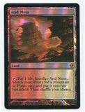 Magic the Gathering Zendikar Single Arid Mesa FOIL - MODERATE PLAY (MP)
