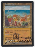 Magic the Gathering Mercadian Masques Single Rishadan Port FOIL SIGNED - MODERATE PLAY