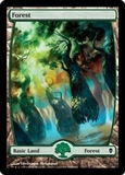 Magic the Gathering Zendikar Single Forest Extended Art (#248) FOIL - NEAR MINT (NM)