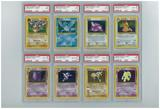 Pokemon Fossil Unlimited Holo Set - All 15 Holos PSA Graded Avg 8.6!