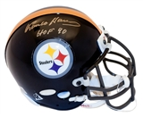 "Franco Harris Autographed Pittsburgh Steelers Authentic Mini Helmet w/""HOF 90"" (Steiner)"