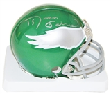 Roman Gabriel Autographed Philadelphia Eagles Throwback Mini Helmet (1974-95)