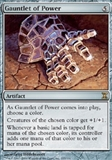 Magic the Gathering Time Spiral Single Gauntlet of Power UNPLAYED (NM/MT)