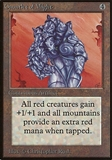 Magic the Gathering Beta Single Gauntlet of Might - MODERATE PLAY (MP)