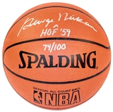 George Mikan Autographed Official Spalding Basketball (JSA)