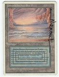 Magic the Gathering Revised Single Underground Sea ARTIST SIGNED GERMAN - MODERATE PLAY