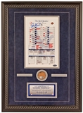 Joe Girardi Autographed Lineup Card From Last Yankee Stadium Game (MLB & Steiner)