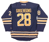 Zemgus Girgensons Autographed Buffalo Sabres Blue Hockey Jersey