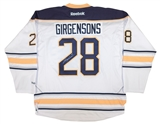 Zemgus Girgensons Autographed Buffalo Sabres XL White Hockey Jersey