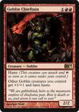 Magic the Gathering 2010 Single Goblin Chieftain - NEAR MINT (NM)