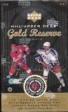 1998/99 Upper Deck Gold Reserve Hockey Update Box