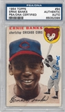 1954 Topps Baseball #94 Ernie Banks Autographed Rookie Card (PSA) *2399