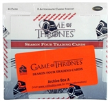 Game Of Thrones Season Four Trading Cards Archives Box (Rittenhouse 2015)