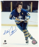Gilbert Perreault Autographed Buffalo Sabres Throwback 8x10 Hockey Photo