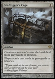 Magic the Gathering Dark Ascension Single Grafdigger's Cage FOIL - SLIGHT PLAY (SP)