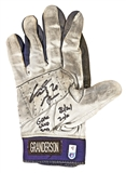 "Curtis Granderson Autographed NY Yankees Game Used Batting Glove w/""20/20"" (MLB COA)"