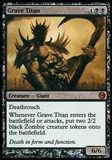 Magic the Gathering Promo Single Grave Titan DUELS OF THE PLANESWALKERS FOIL - SLIGHT PLAY (SP)