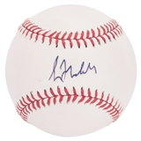 Greg Maddux Autographed Chicago Cubs National League Baseball (Press Pass) NM