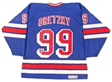 Wayne Gretzky Autographed New York Rangers Jersey (Gretzky Authenticated)