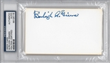 Burleigh Grimes Autographed Index Card (PSA) *6116
