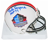 Gale Sayers Autographed Hall Of Fame Mini Helmet (JSA)