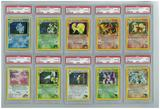 Pokemon Gym Challenge Unlimited Complete 132 /132 Set - All Holos PSA Graded Avg 9.55 MINT
