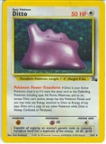 Pokemon Fossil Single Ditto - 3/62 - MODERATE PLAY (MP)