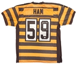 Jack Ham Autographed Pittsburgh Steelers 80th Anniv. Throwback On Field Jersey (JSA)