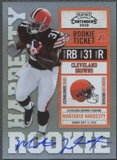 2010 Playoff Contenders #227B Montario Hardesty Obscured Number Rookie Autograph