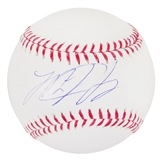 Matt Harvey Autographed New York Mets Major League Baseball (Steiner COA)